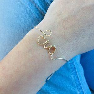 Jewelry - 🎉Hp 🎉 Dainty Custom Wire Name Bracelet Handmade